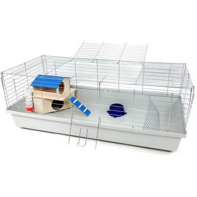 Klatka dla królika lub świnki morskiej 120cm z domkiem piętrowym