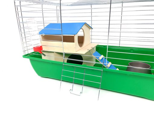 Klatka dla królika lub świnki morskiej 70cm z domkiem piętrowym