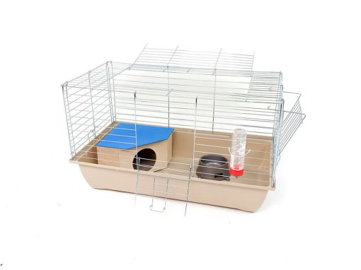 Klatka dla królika lub świnki morskiej 70cm z domkiem narożnym