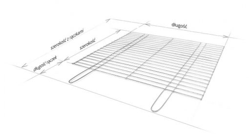 Ruszt do grilla - schemat wymiarów