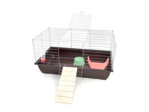 Klatka dla królika lub świnki morskiej 80cm z podestem